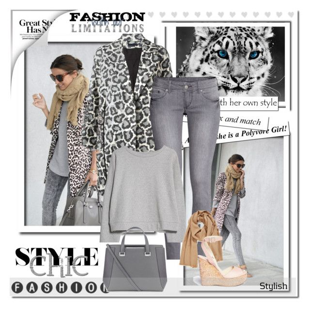 """Stylish Leopard."" by artlove1997 ❤ liked on Polyvore featuring Diane Von Furstenberg, H&M, MANGO, Halogen and Jimmy Choo"