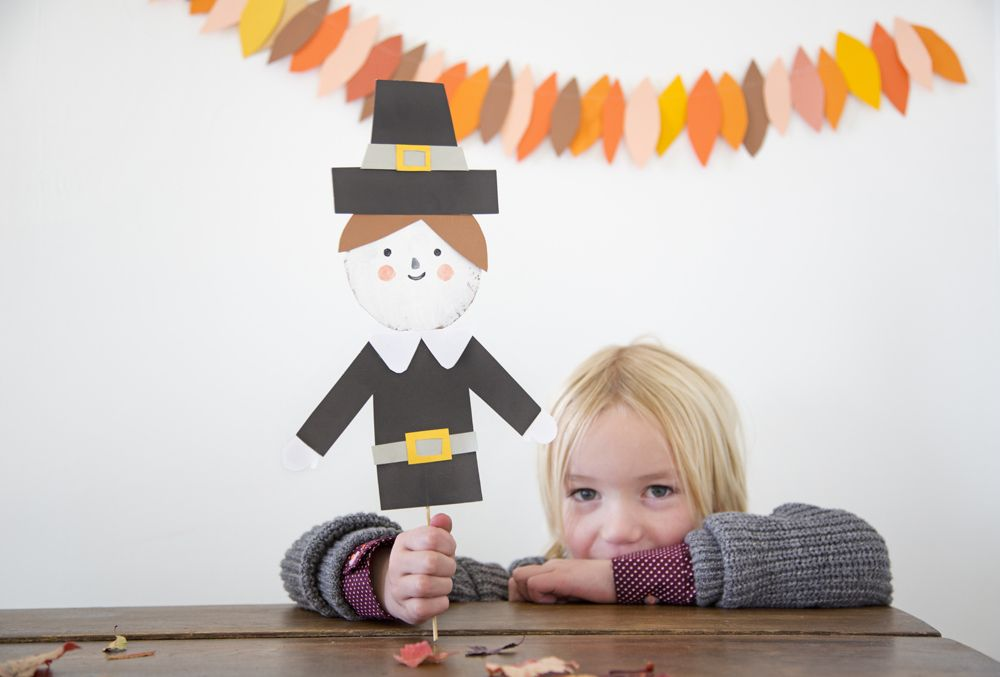Mer Mag: Thanksgiving Puppets for Oh Happy Day!
