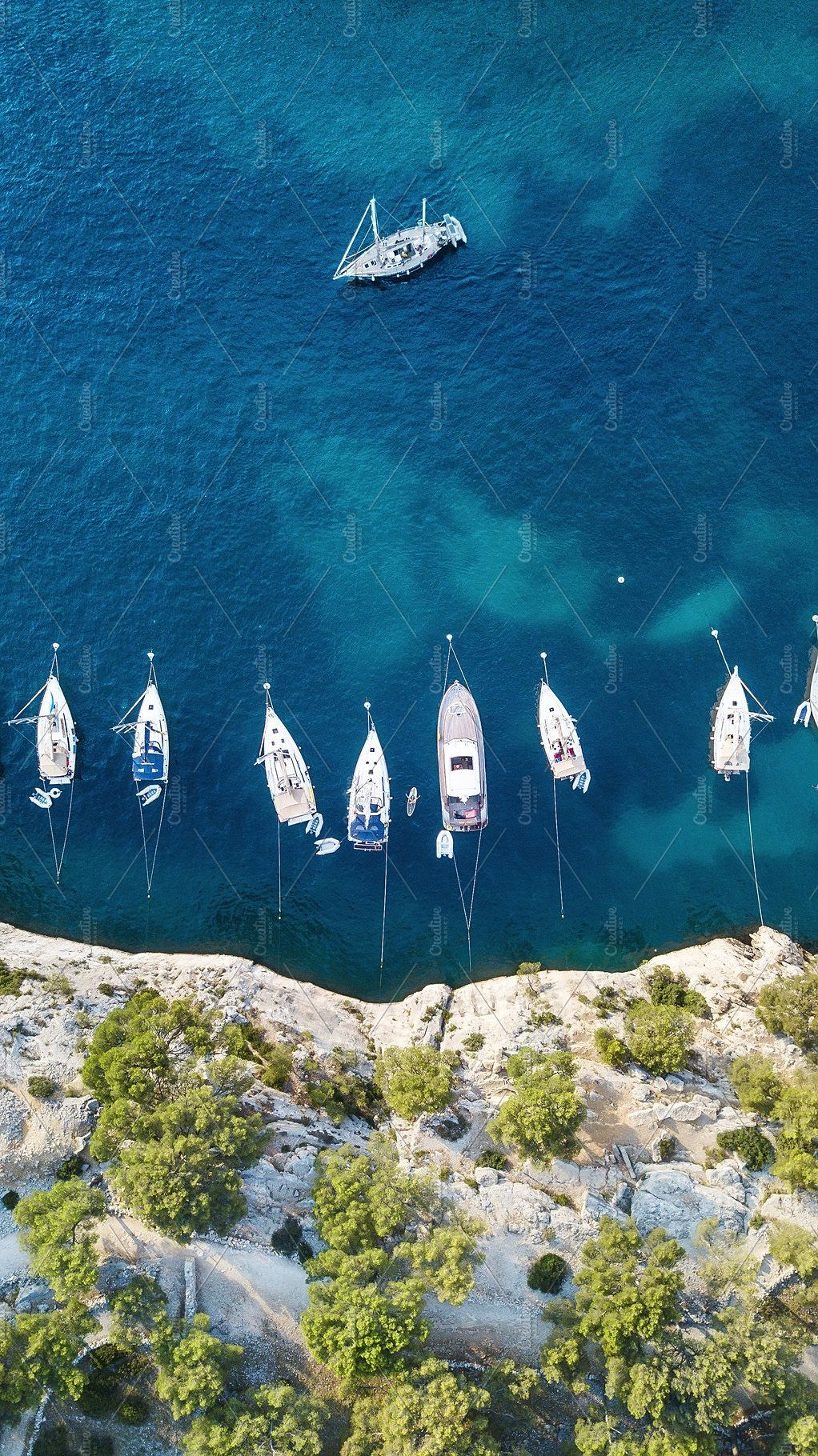 Yachts At The Sea In France Aerial Featuring Above Aerial And Yacht Boat Boat Building Plans Boat Building Wallpaper coast aerial view sea boat