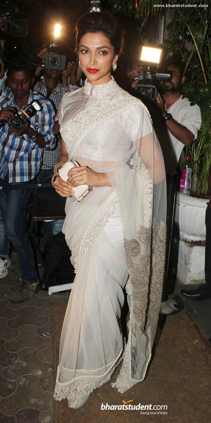 Deepika Padukone | Saree blouse designs, Saree designs ...