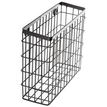 Brown Metal Wire Cube Wall Basket For Library Area