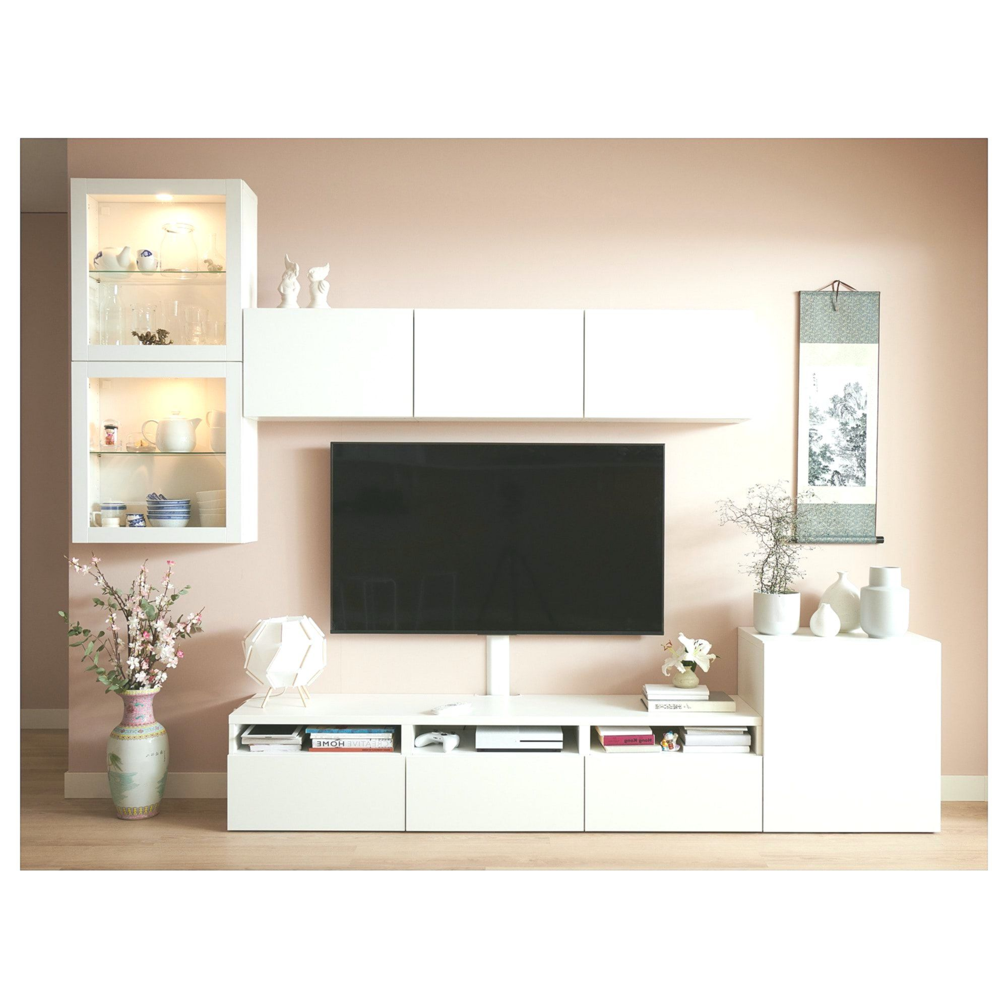 Best Combination Of Tv Storage Glass Doors Lappviken Sindvik White Transparent Glass Ikea Wohnzimmer Tv Kleines Schlafzimmer Und Tv Wandgestaltung