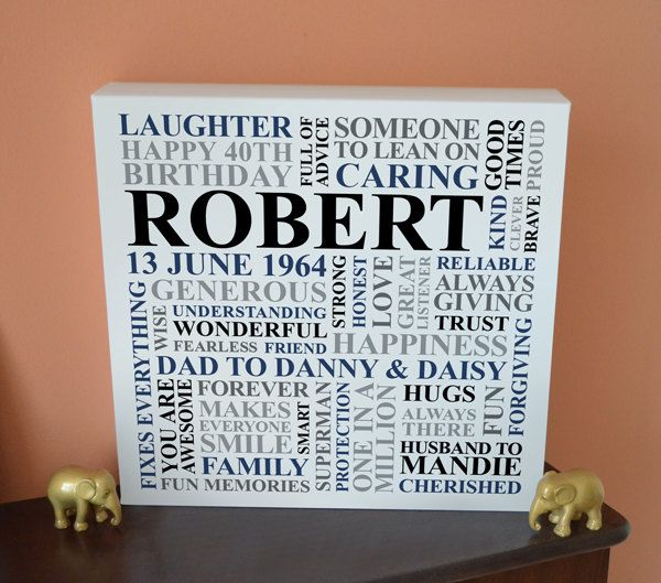 Personalised Men S Birthday Canvas 21st 30th 40th 50th