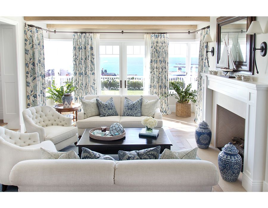 Best Perfect Blue And White Themed Living Room For A Perfect Coastal Home Whitesofa Coastal 400 x 300