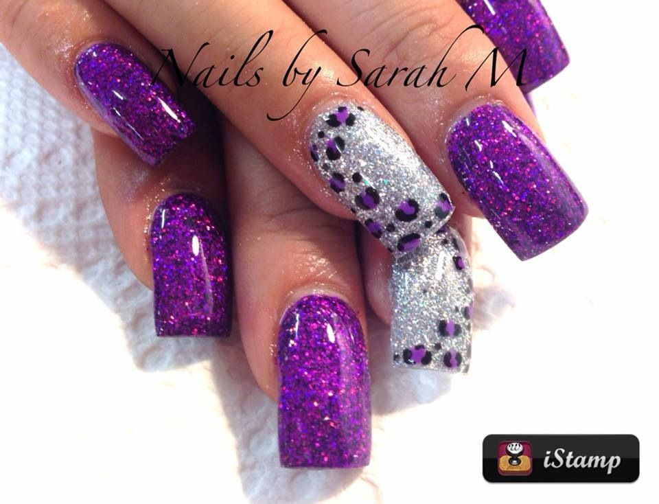 Acrylic nails with leopard design | Nails | Pinterest | Diseños de ...