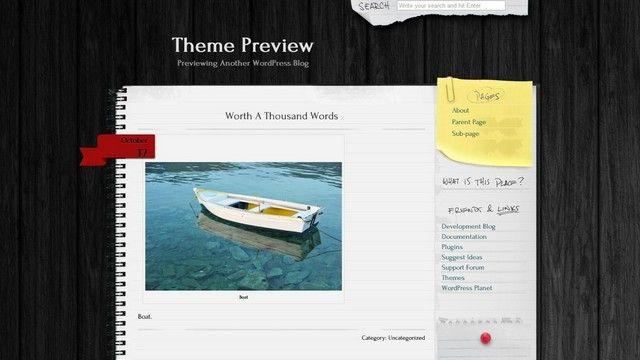Anarcho Notepad Free WordPress Theme. | WordPress Themes | Pinterest ...