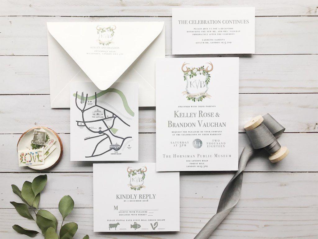 Custom Wedding Invitation Reveal: Rustic Monogram | Summer wedding ...