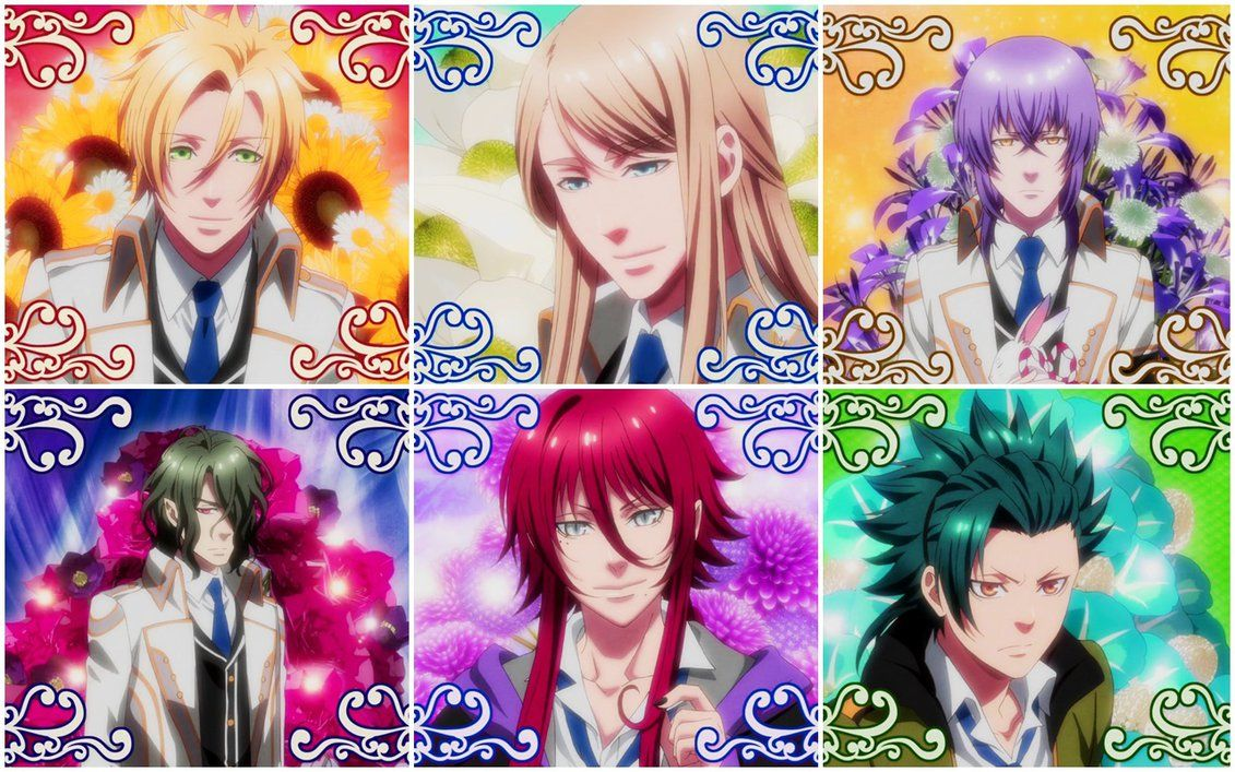 Kamigami no Asobi - Characters: Apollon Agana Belea, Hades Aidoneus, Balder Hringhorni, Loki Laevatein, Takeru Totsuka, Tsukito Totsuka