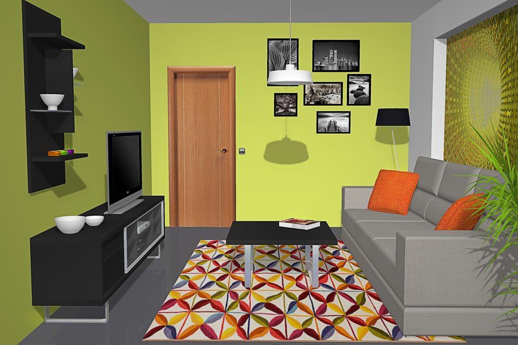 Salón comedor moderno con los muebles en color negro   SALON COMEDOR ...