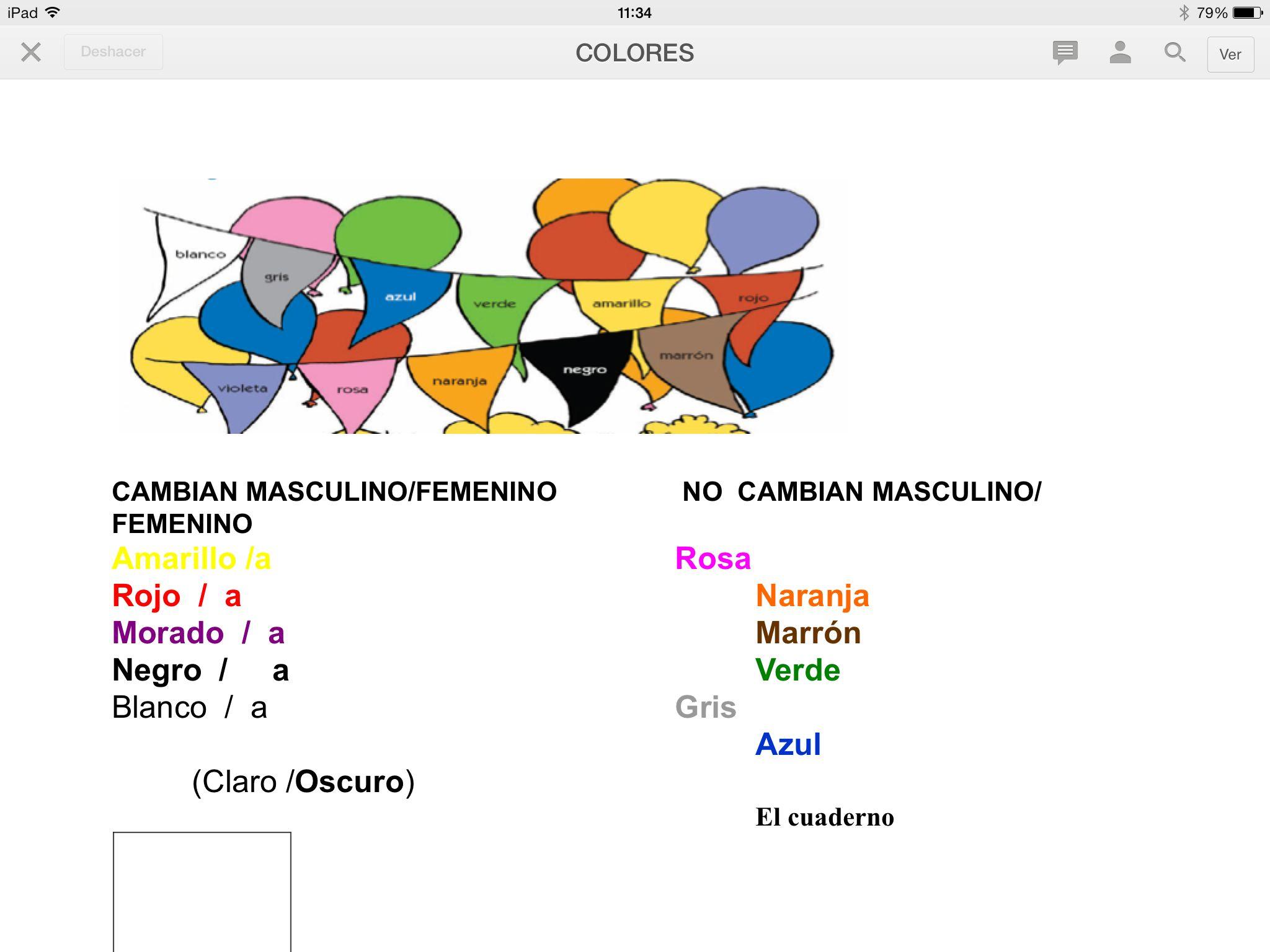 Colores ele spanish lesson online clases de espaol en tu lnea colores robcynllc Image collections