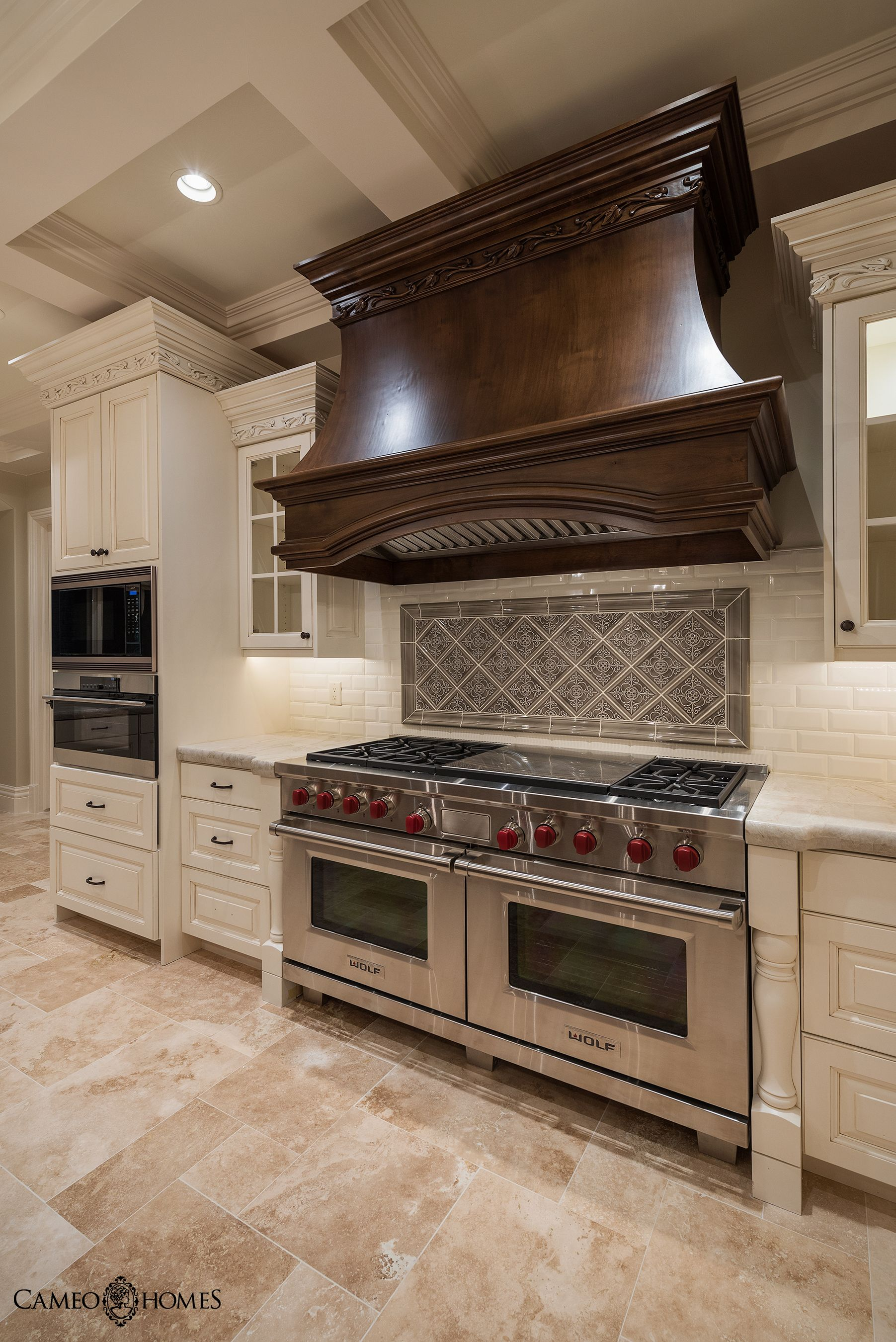 beautiful kitchen with sub zero wolf appliances in utah by cameo homes inc cameohomes on kitchen remodel sub zero id=74318