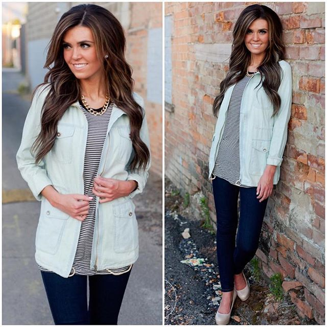 """""""Because this is too good of a secret to keep to myself....lightweight chambray jackets are BACK tonight at midnight MST on Jane.com """" Photo taken by @fancyfrillsboutique on Instagram, pinned via the InstaPin iOS App! http://www.instapinapp.com (07/20/2015)"""