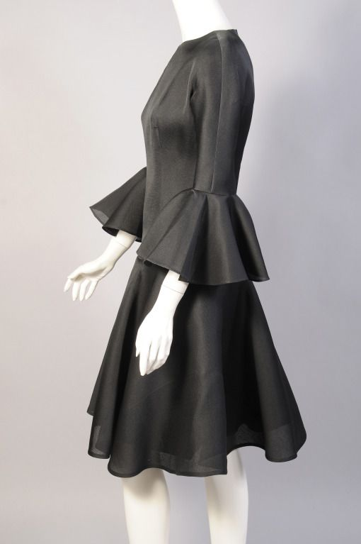 Balenciaga 1960 s Haute Couture Silk Gazar Cocktail Dress  3cb56eee1