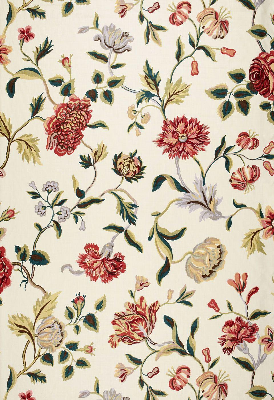 Fabric | Avebury Floral Vine in Document Rose | Schumacher
