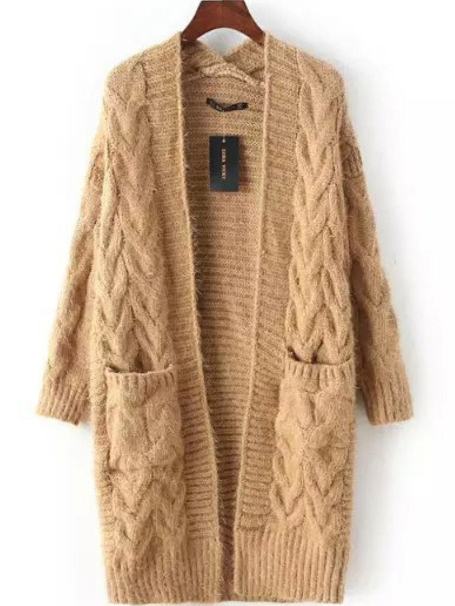 Knitted Long Sleeve Casual Cardigan | Cotton sweater, Cotton and ...