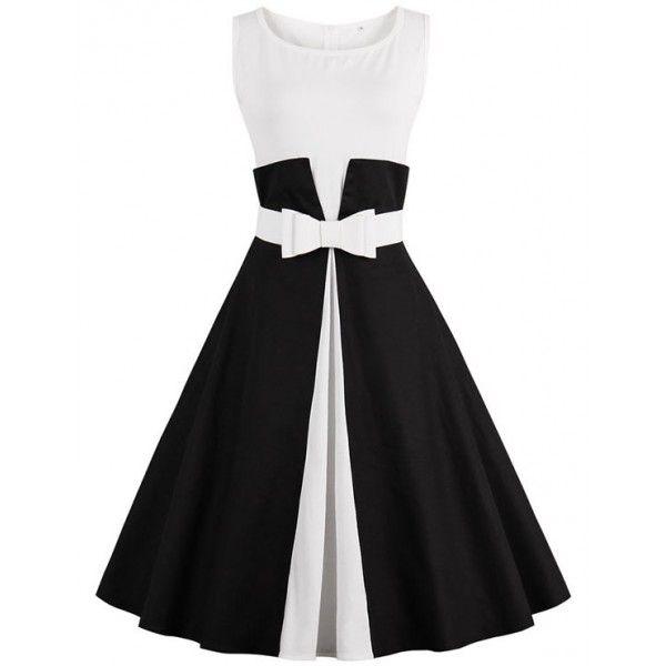 Vestidos negro con blanco de fiesta