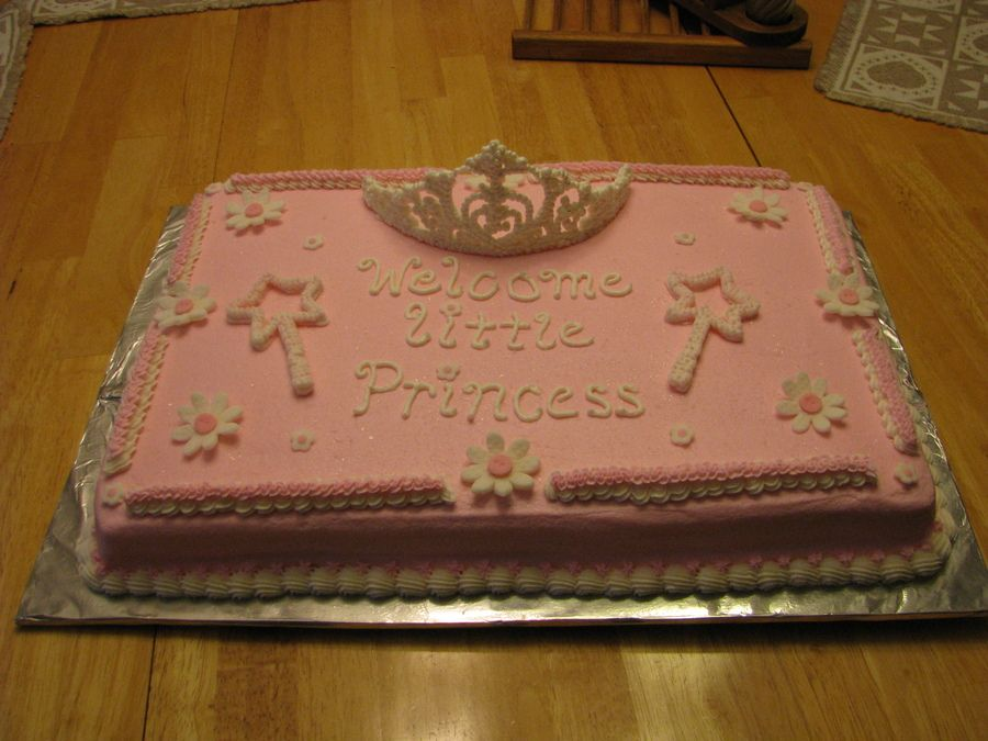 princess baby shower sheet cakes