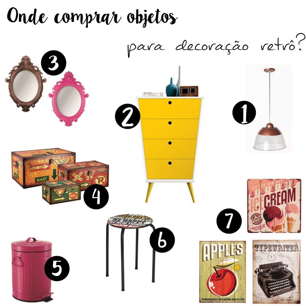 Como fazer e onde comprar decora o retr decora o - Objetos vintage ...