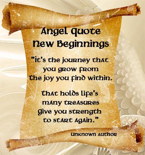 Angel Quote New Beginnings