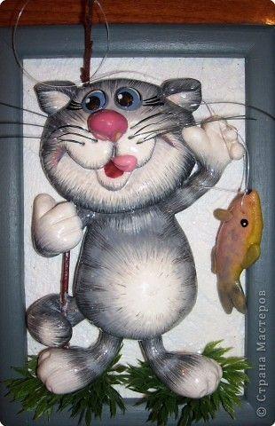 Картины коты из соленого теста