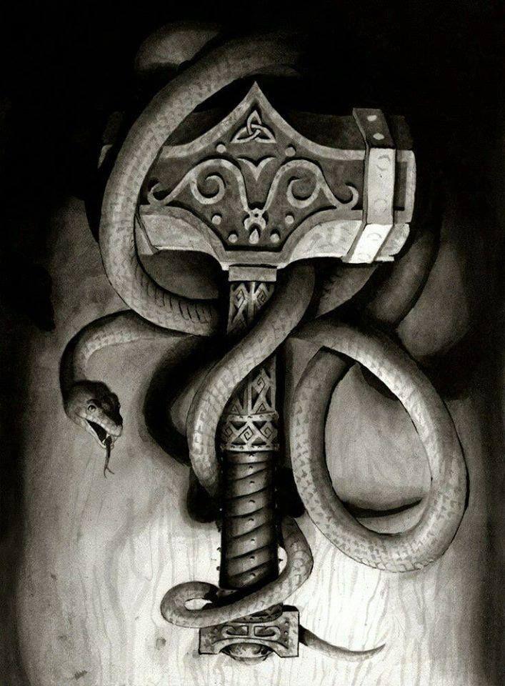 Norse Mythology Vikings Norse Tattoo Hammer Tattoo