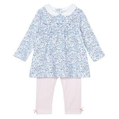 88269606bd J by Jasper Conran Baby girls  pink floral print jersey top and leggings  set