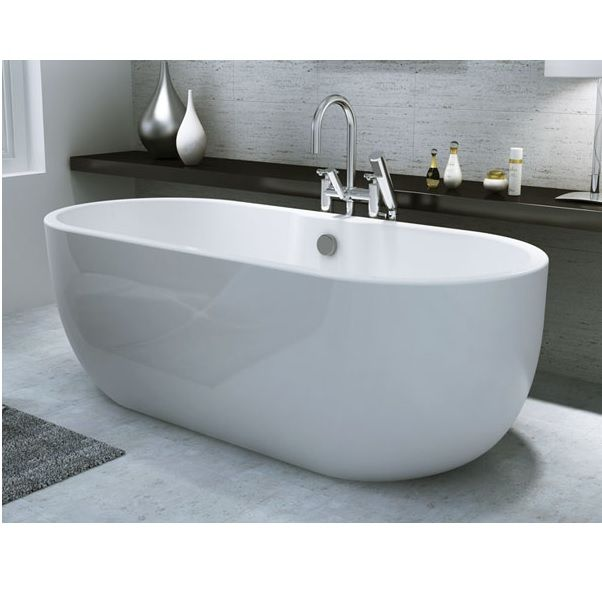 Synergy San Marlo Modern Freestanding Bath 1555 x 745 x 580mm The ...