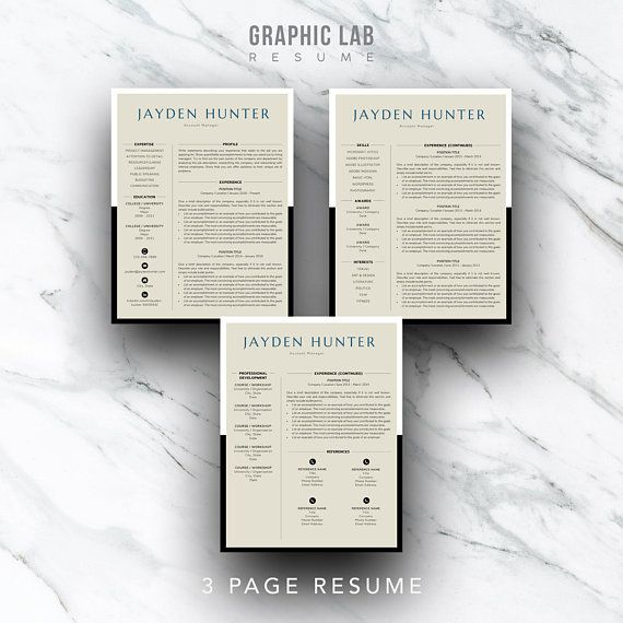 Resume Template Instant Download Curriculum Vitae Resume and