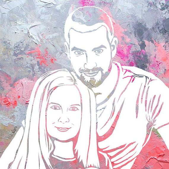 Painted by yourself custom pop art family portrait from your photo painted by yourself custom pop art family portrait from your photo custom gift personal self made portrait personal gift painted by you pop art solutioingenieria Choice Image