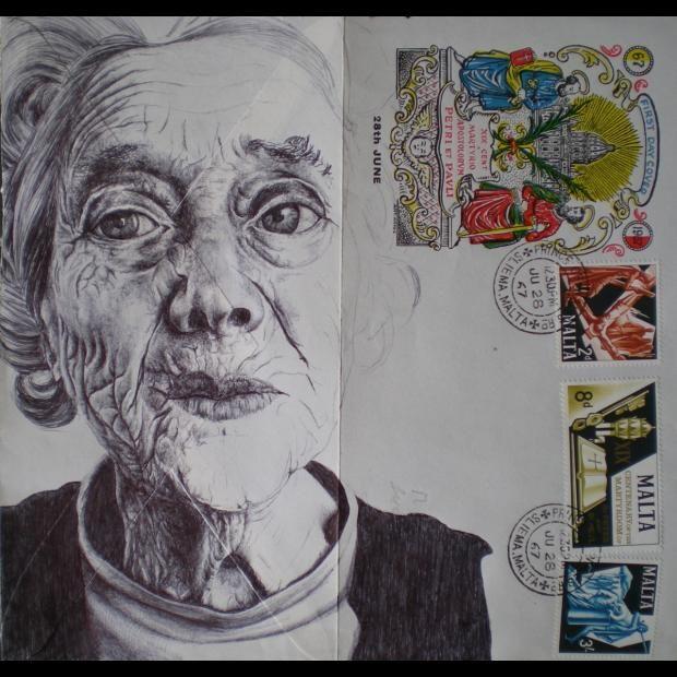 Retratos Hechos A Boli Sobre Cartas Antiguas En Lainformacion Com Produccion Artistica Revistas De Arte Cartas Antiguas