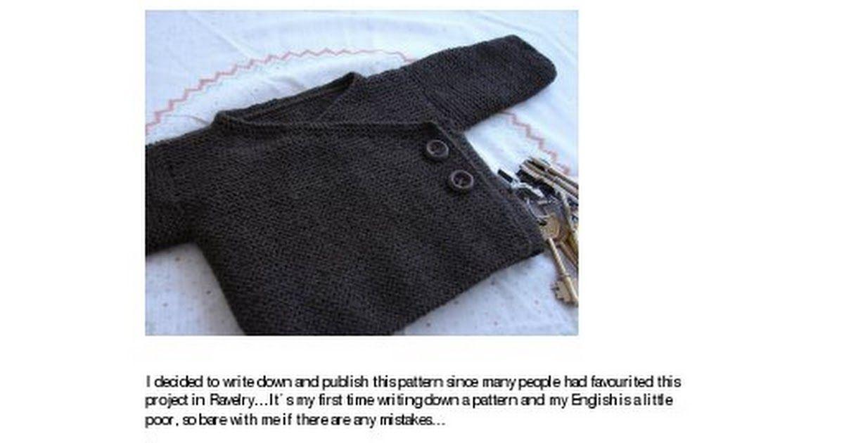 Garter Stitch Baby Kimono Jacket.pdf | Knitting pat | Pinterest ...