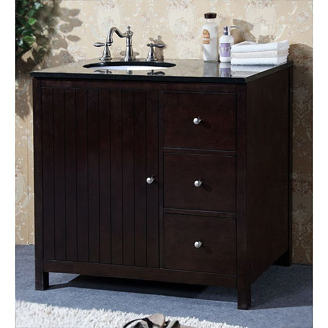 Nice Granite Top 36 Inch Single Sink Bathroom Vanity By Legion Furniture