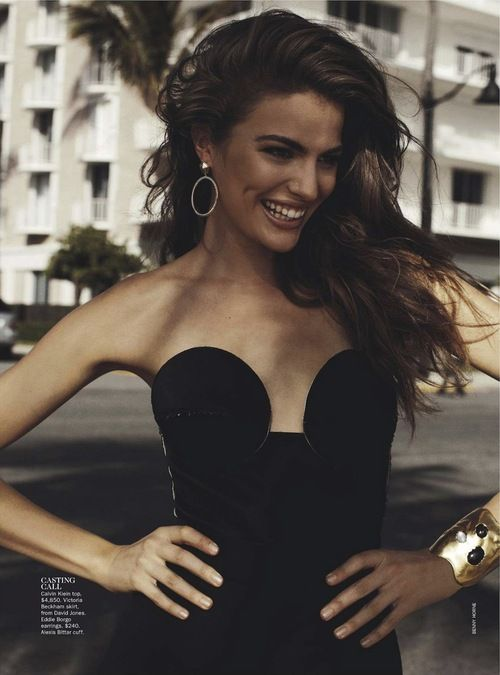 Miami Heat: Vogue Australia February 2013  Model: Cameron Russell  Photographer: Benny Horne