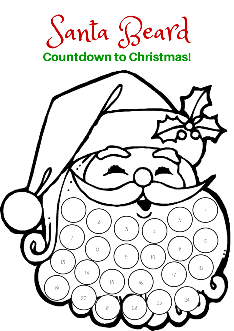 Countdown To Christmas With This Free Printable Santa Beard