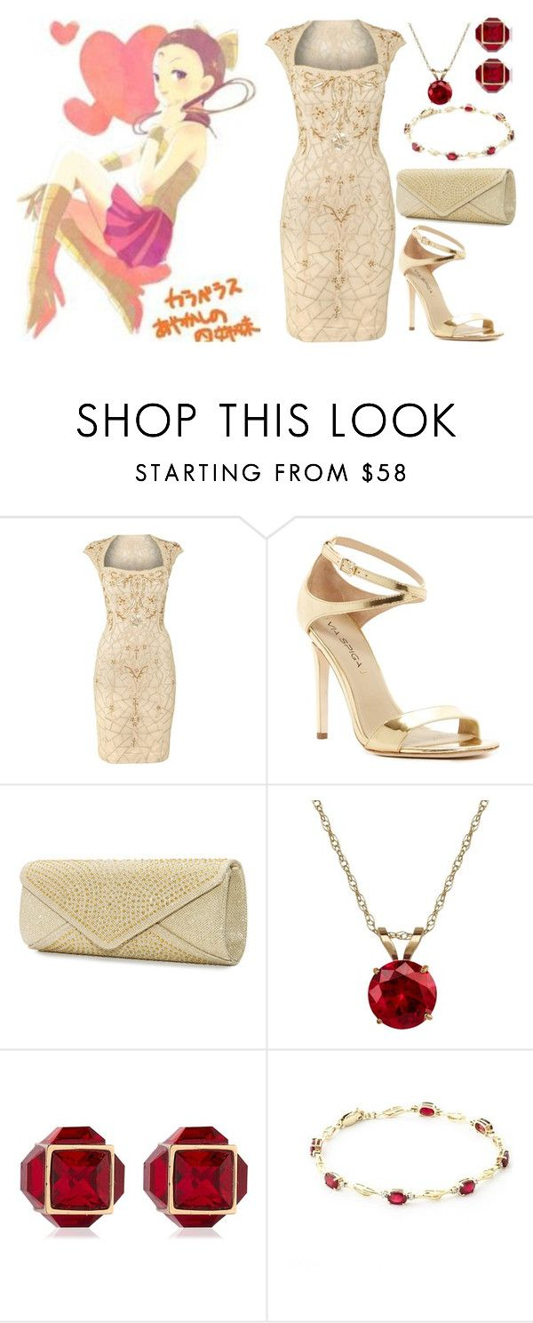 """""""Pretty Soldier Sailor Moon R Formal: Calaveras Ayakashi"""" by becka-ramey on Polyvore featuring Adrianna Papell, Via Spiga, Mascara, Everlasting Gold and Vita Fede"""