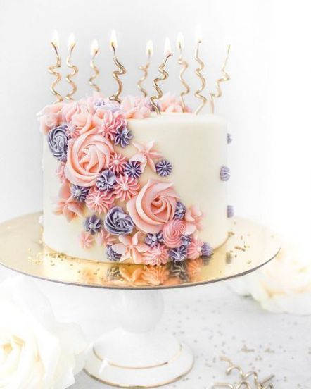 32 ideas birthday cake elegant flowers simple -   18 cake Girl flower ideas