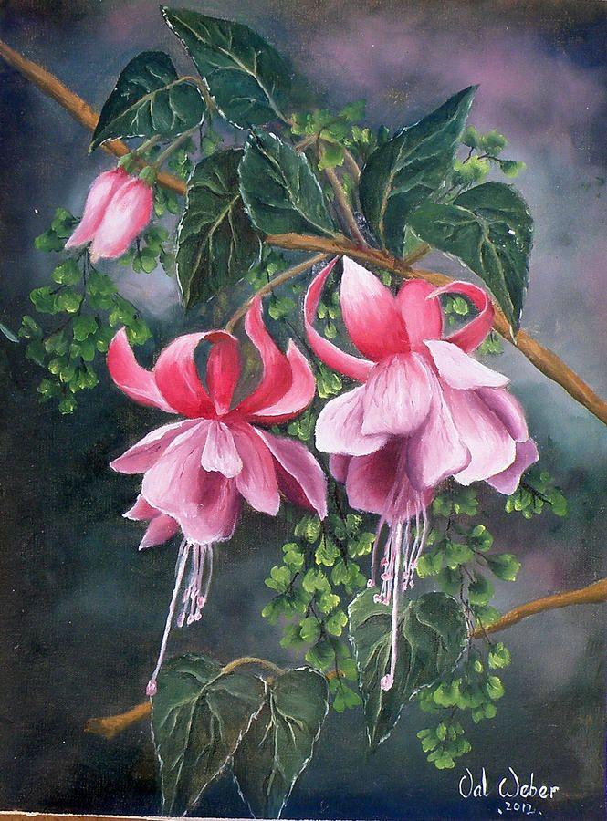 Fuschia And Fern By Valerie Weber Flower Painting Watercolor Flowers Flower Art