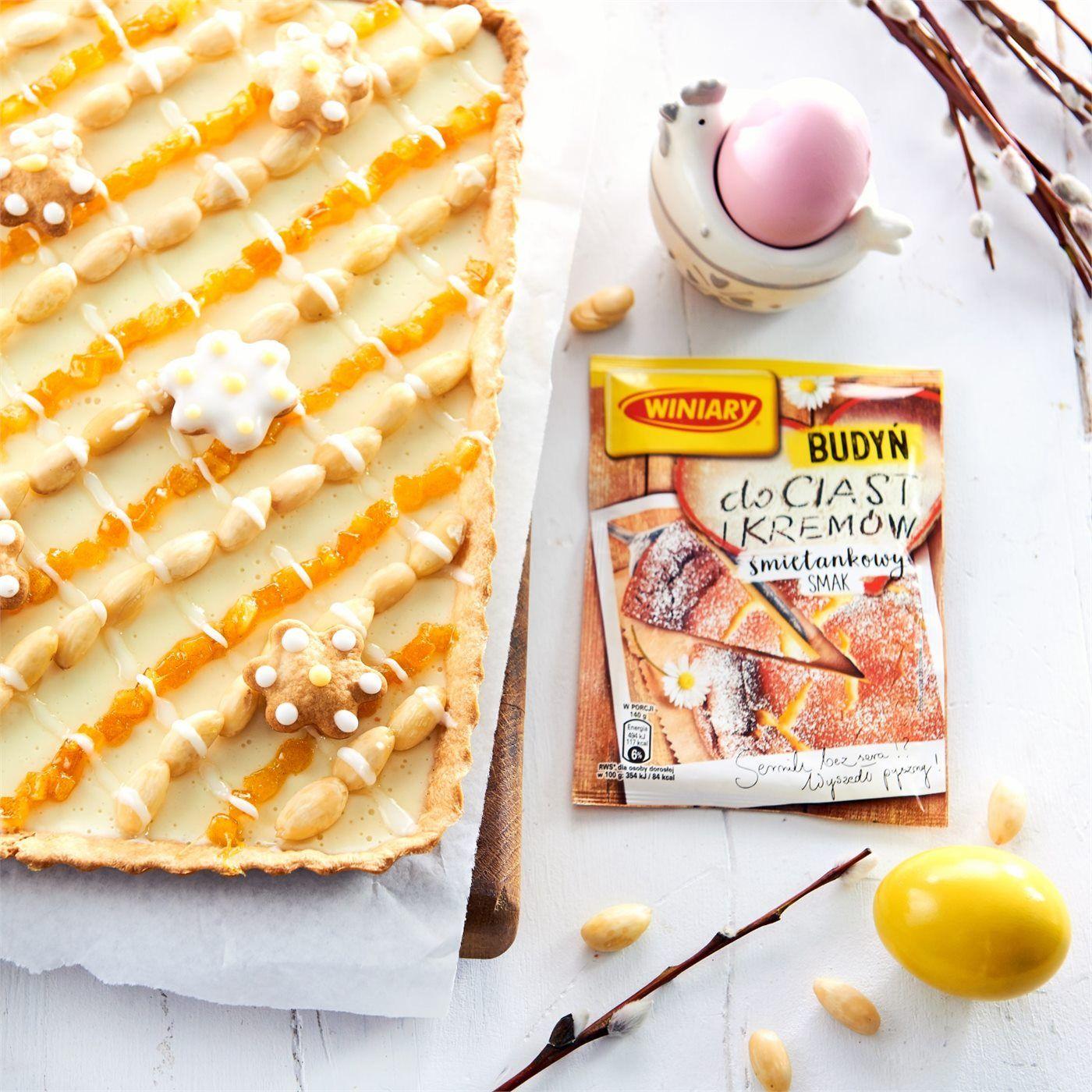 Mazurek Wielkanocny Z Kremem Budyniowym Przepis Recipe Food Recipies Bread
