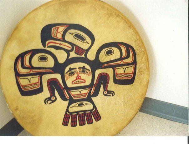 Heiltsuk Eagle drum