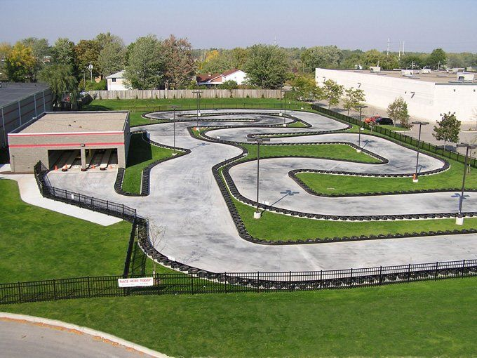 The LASERTRON Outdoor HighSpeed Go Kart Track  Yelp. Always wanted my own race track  Dream