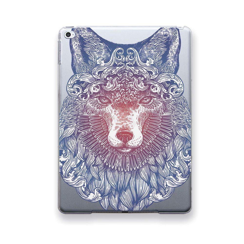 Fox art transparent case smart cover apple ipad air pro