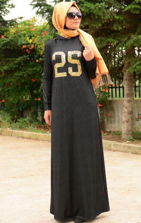 Koyu Renk Tesettur Spor Giyim Modelleri Spor Giyim Giyim Kazak Elbise