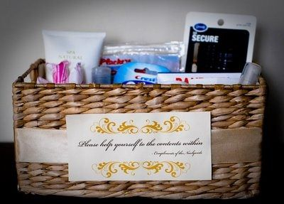Basket Of Toiletries For Guests Bathroom Basket Wedding Wedding Bathroom Bathroom Baskets