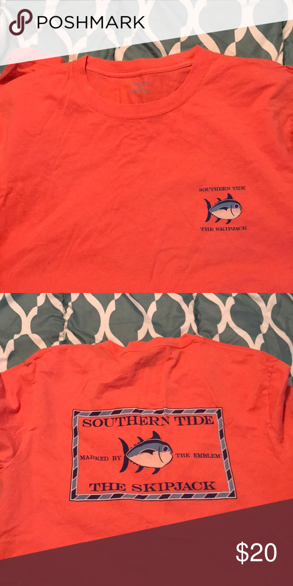 Southern Tide Original Skipjack Tee Unisex Only Worn A Few Times Logo On Front And Skipjack On The Back For Guys Or Girls It S A Cor Southern Tide Tees Tide