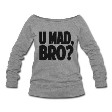 you mad bro shirt.png Men's T Shirt white | nfl