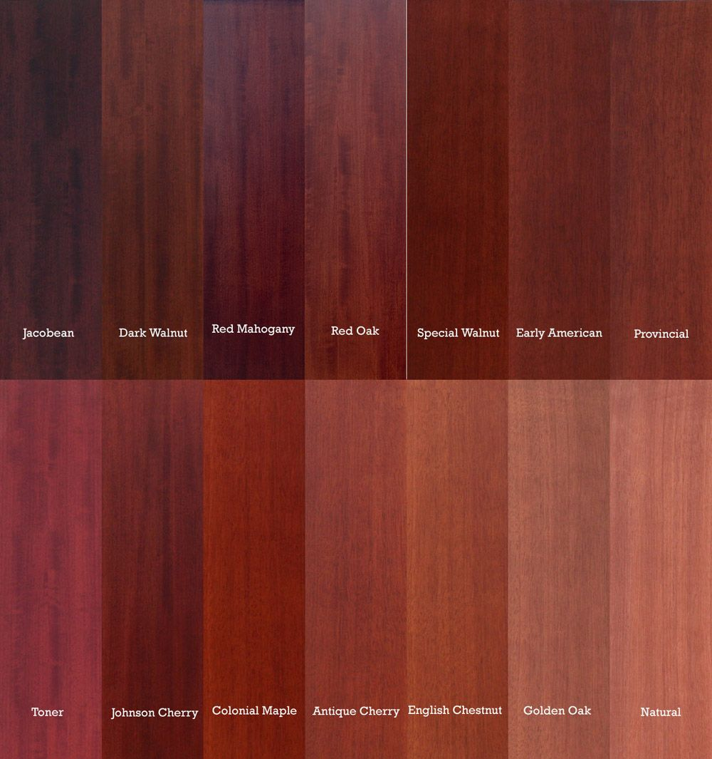 Red Mahogany Vs Oak Color Comparison Google Search