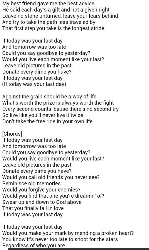 I found your picture today lyrics