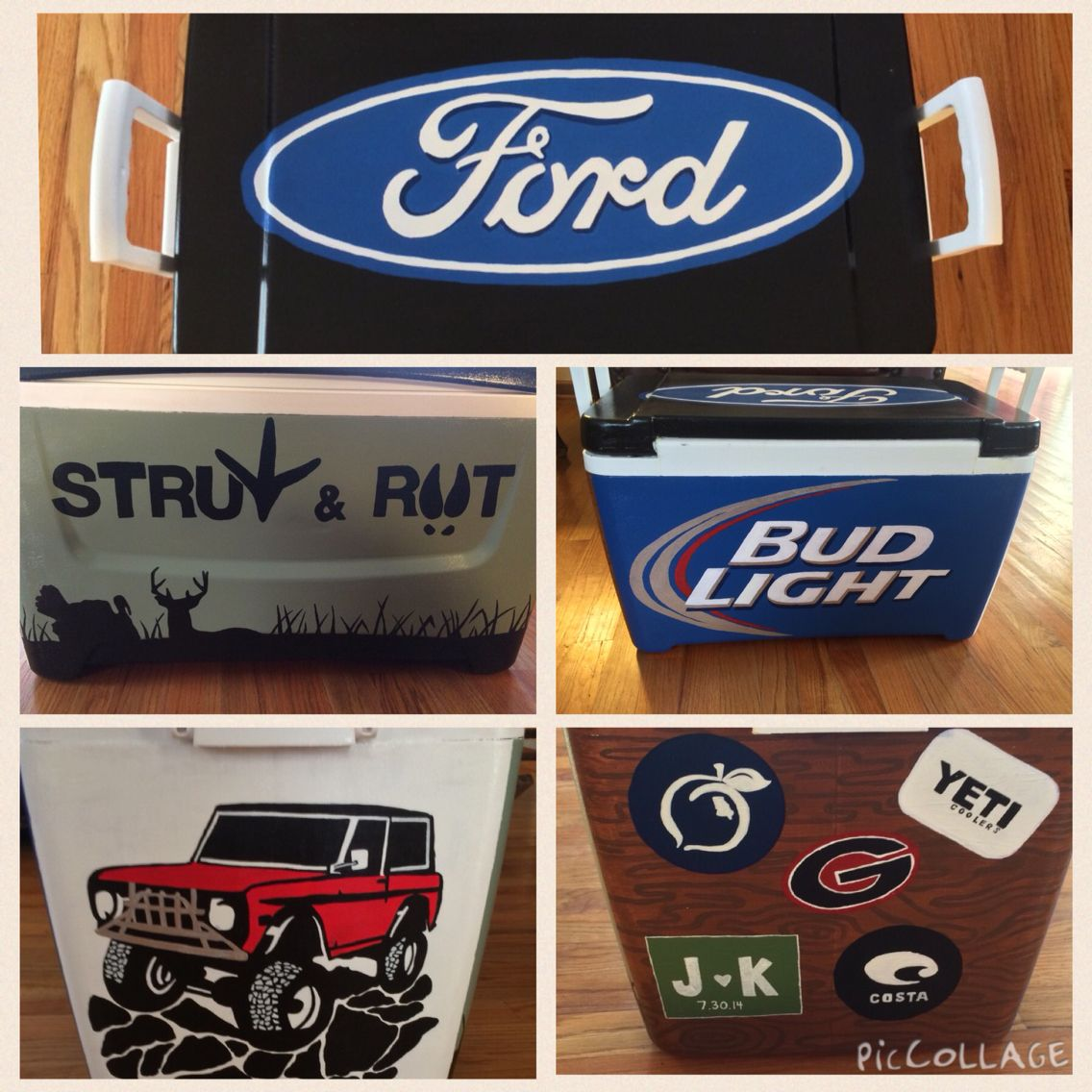 Painted Cooler For Guys Diy Cooler Cooler Painting Cooler Designs