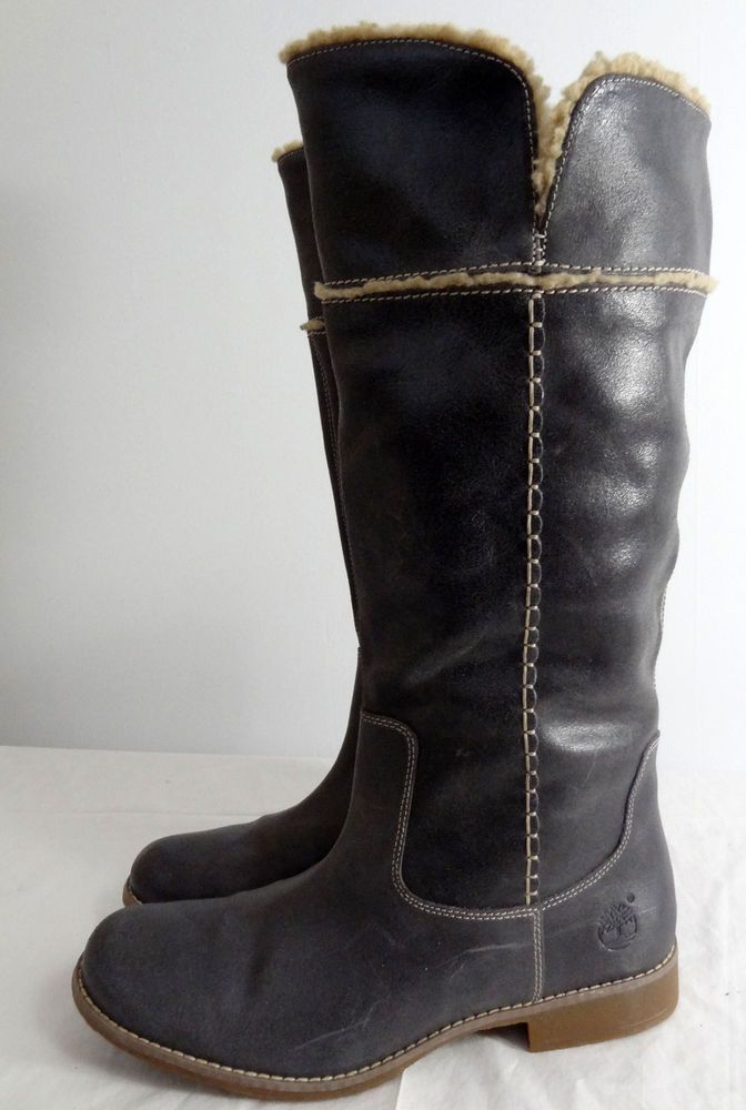 edaf07673e0 Timberland Tall Gray Knee High Leather Boots Womens Size 11 M Never Worn!