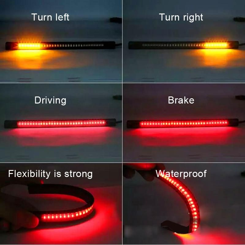Universal flexible 32 led motorcycle light strip led turn signal universal flexible 32 led motorcycle light strip led turn signal lights motorbike brake lights taillight license aloadofball Gallery